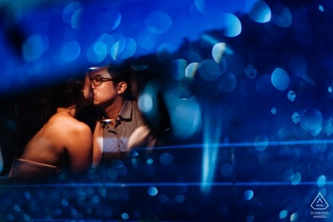 Pre Wedding Phuket Engagement Photograph of couple kissing