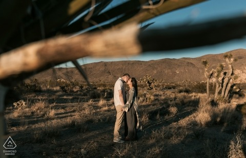 California Joshua Tree Engagement Photo Session in the hills