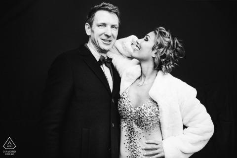 Piza, Włochy Fotografia | Zaręczyny przed ślubem z czarnym tłem!