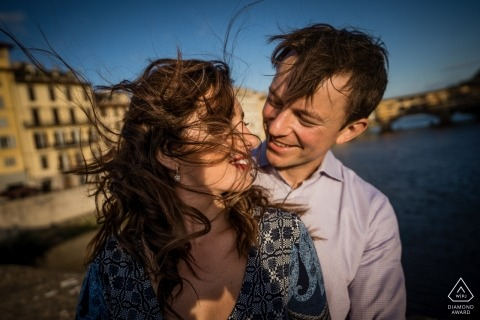 Photographie de pré-mariage à Florence, Toscane | Séance de portraits de fiançailles en Toscane