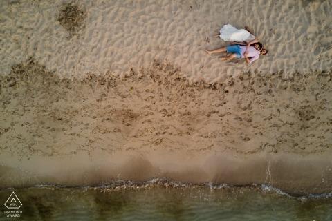 izmir - cesme drone portriat - photographie de mariage avant