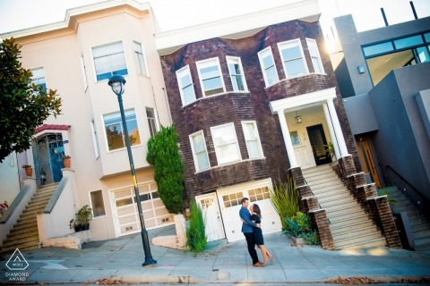Fun with steep streets in N. California - Engagement Photo Session