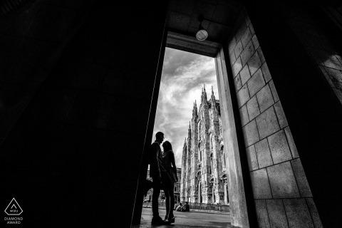best Italian engagement photos - Milano Engagement Photographs