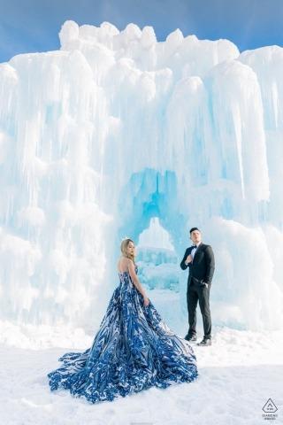 Eis Verlobungsfotografie