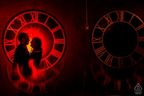 Chicago clocks - Illinois Engagement Photo