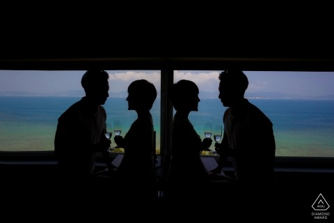 China Silhouette Portrait - Engagement Photography