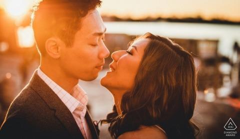 Pré-mariage en Italie - Photographie de fiançailles au coucher du soleil