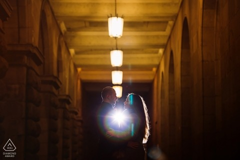 Backlight Sofia Engagement Photo Session with Couple
