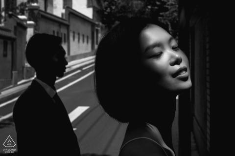 Guangdong Sunshine Portrait na ulicy - fotograf zaręczynowy