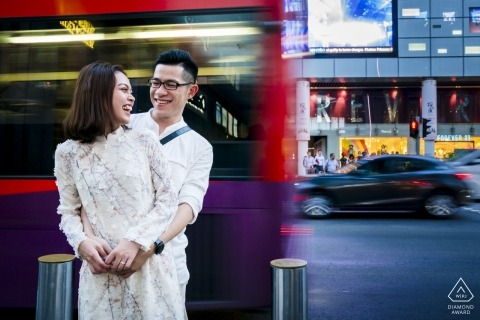 Memories with the buses when they were in high school - VN Engagement Photographer