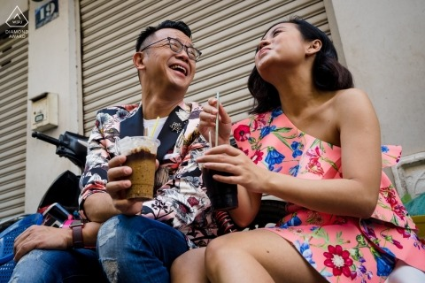 Vietnam Coffee time - Engagement Photography Portraits