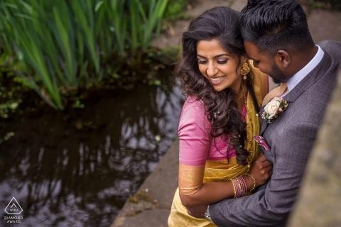 Portrait de couple au parc - Photographe de fiançailles à Londres