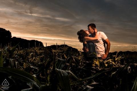 Alternatieve pre-huwelijkssessie - Laguna de Duero pre-wedding shoot