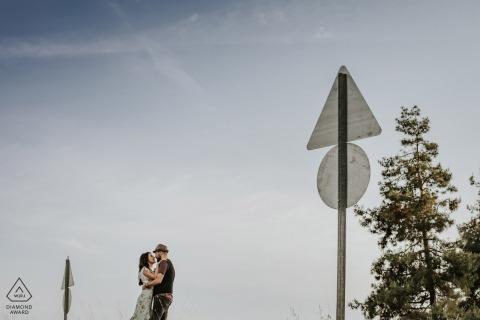 mersin / Türkei vor der Hochzeit Fotos | Liebesschilder zeigen an, dass auf diesem Weg Liebe bevorsteht