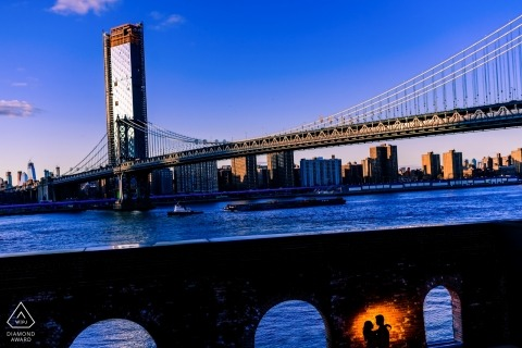 New York City Engagement portrait Sessie | Brooklyn Bridge Love shoot