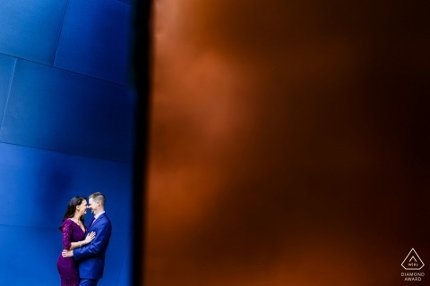 Pre-wedding portretten in Los Angeles, Californië - Walt Disney Hall Engagement Session
