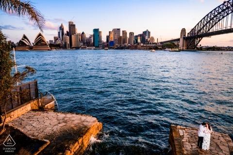 Séance photo d'engagement de l'opéra de Sydney en Australie