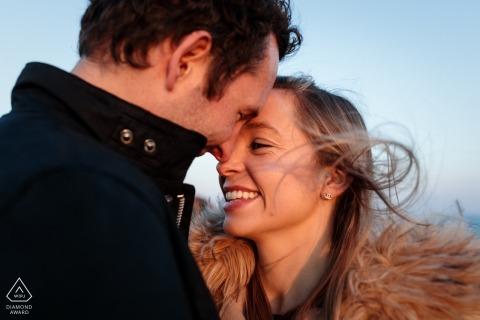 St Brelades, Jersey, CI engagement photos | A spring coastal pre-wedding shoot