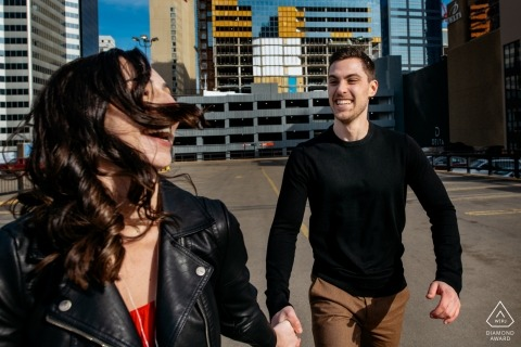 Pre-wedding portraits in Edmonton, AB, Canada | you and me in a big city