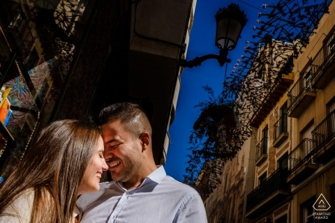 Alicante Engagement Photographer | pre-wedding portrait session in town