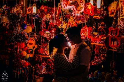 Ho Chi Minh-Ville, Vietnam pré portraits de mariage - Happy Mid Autumn Festival