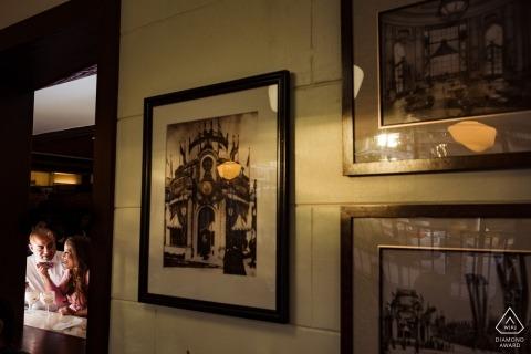 Séance photo de fiançailles à San Francisco - Portraits de la Ice Cream Gallery