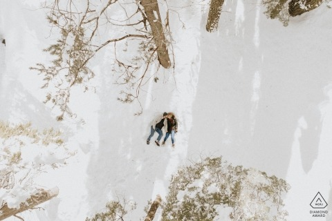 Cisco Grove, CA drone photography portraits | Photographer: The love is in the air... oh wait! No it's just my drone capturing it.