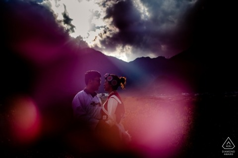 Yunnan, Diqin engagement portrait - naxi culture in the sun