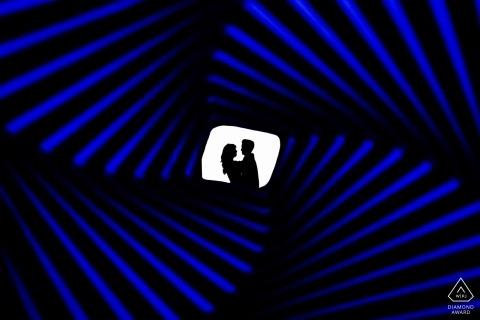 Legion der Ehre optische Täuschung Silhouette | Kalifornien Verlobungsfotos
