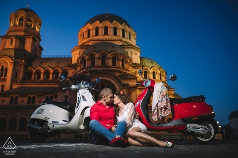 Sofia pre-wedding portrait session - Vespas & The city