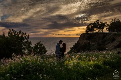 Santa Monica, California engagement session Overlooking the ocean