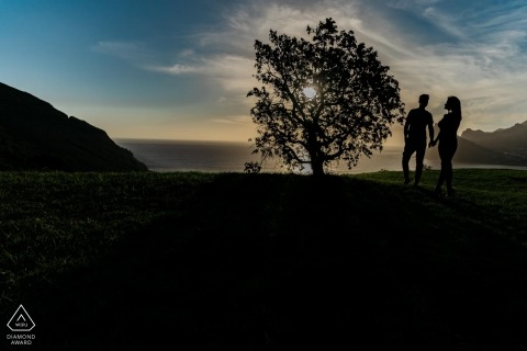 Cape Town prewedding photo session | Silhouette at sunset