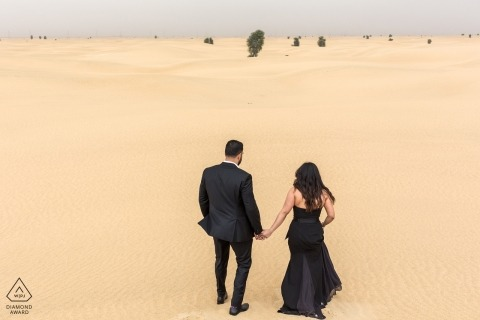 Pre-wedding portrait Photography in the deserts of Dubai