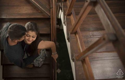 Séance de portrait d'engagement de Bangalore avec Elegance