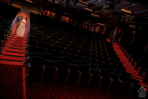 Cruise Ship MSC Seaview Engagement Photography - Theater on the sea