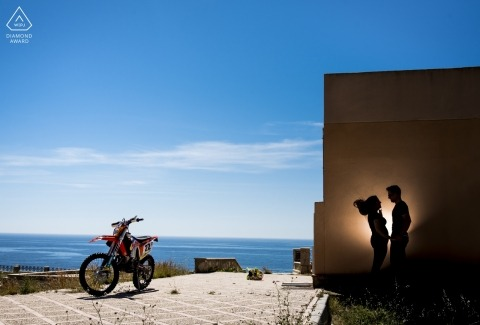 Águilas - Murcia Engagement Portrait Session with Motorcycles and love