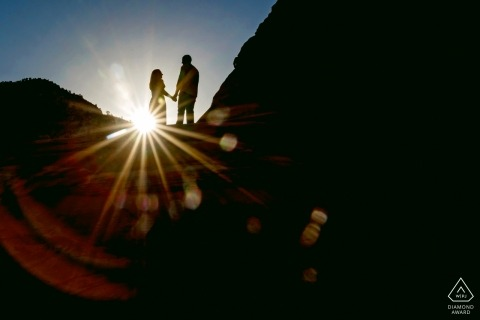 Zion National Park Engagement Photography Session - Hiking to the Top of Angels Landing