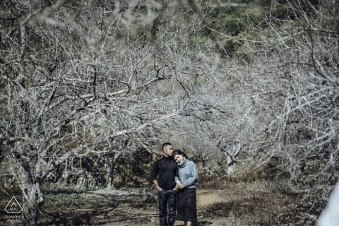 This Pre-Wedding Engagement Photowas taken at Moc Chau in the Trees