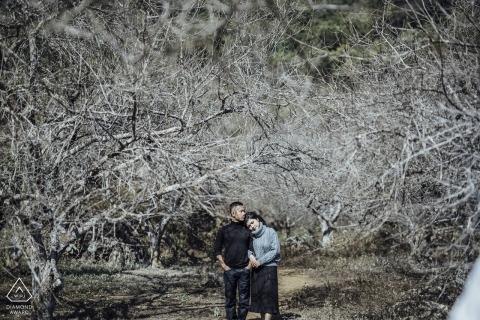 Deze Pre-Wedding Engagement Photo werd gemaakt op Moc Chau in the Trees