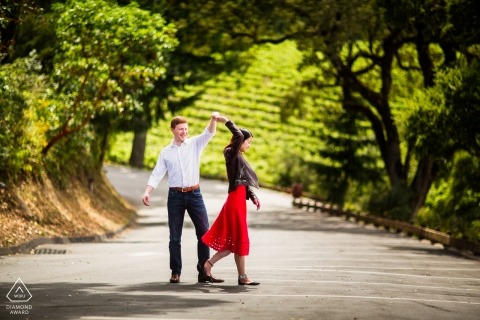 Thomas Fogarty Winery, Woodside Engagement Portrait Session