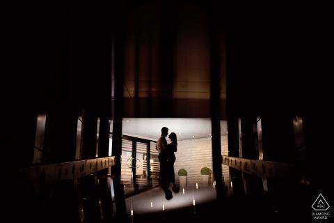 Sofia, Bułgaria Nocny portret zaręczynowy