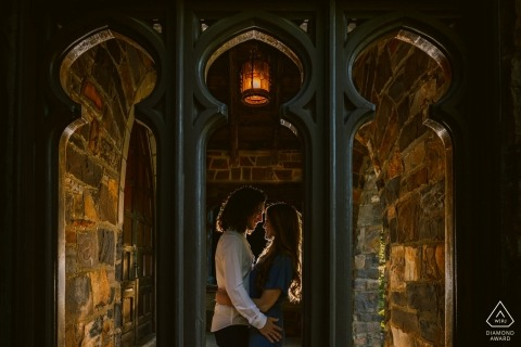 Rome, Georgia - Creative backlit engagement portrait