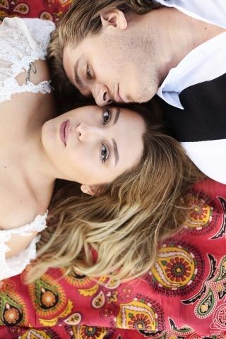 Bursa, Turcja portret zaręczynowy para