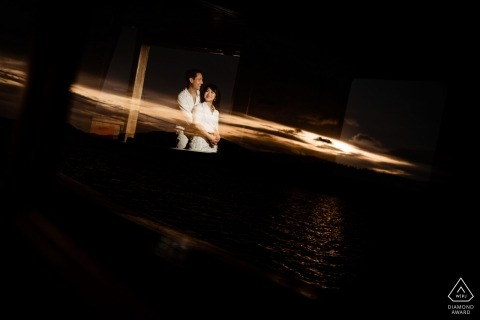Sunset engagement session in Koh Samui.