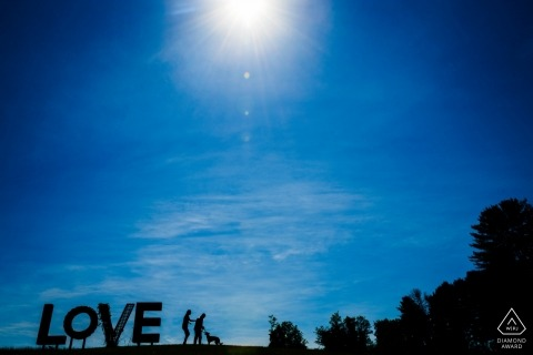 Leesburg Virginia Engagement Session at Love Sign - Virginia is for Lovers