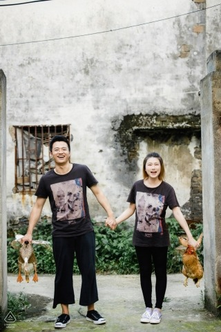 Nanxun, Huzhou, Zhejiang, China Engagement Photography - The couple came to their home country to shoot a set of engagement photos of many childhood scenes