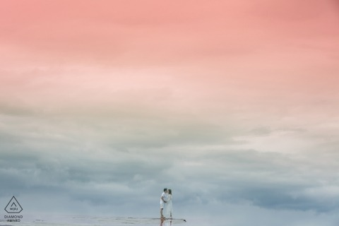 China Pre-Wedding fotoshoot met weerspiegeling van liefde
