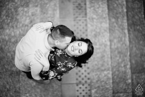 Milano, Italy - best italian engagement photo - black and white