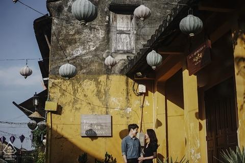 Betrokkenheid sessie foto werd genomen in Hoi An