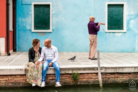Burano, Venezia, Italy - Funny engagement session